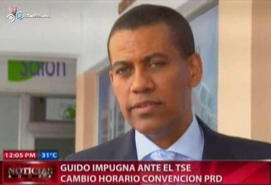 Guido Impugna Ante El TSE Cambio Horario Convencion PRD #Video