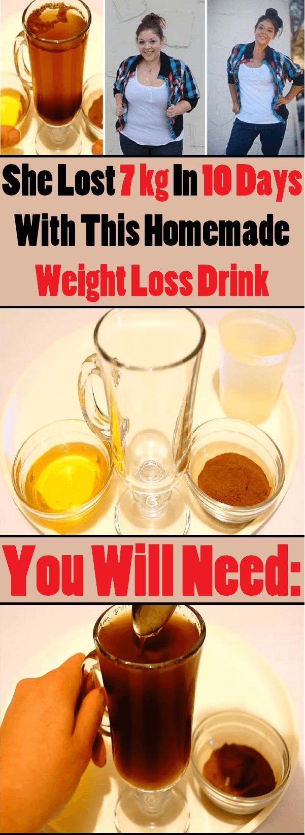 She Lost 7 Kg In 10 Days With This Homemade Weight Loss Drink!!!