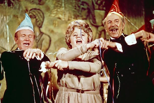 Happy 1972 New Year's with the Poseidon Adventure gang - Red Buttons, Shelley Winters and Jack Albertson