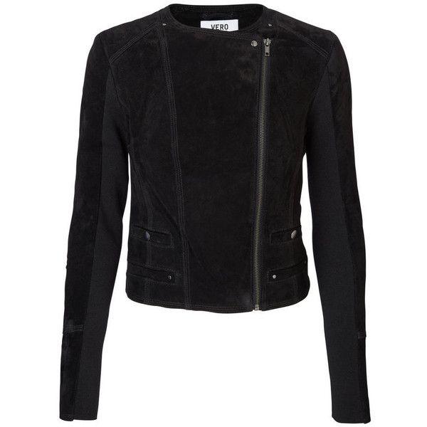 LONG SLEEVED DENIM JACKET Vero Moda (€90) via Polyvore featuring outerwear, jackets, button jacket, denim jacket, short jean jacket, tall denim jacket en jakke