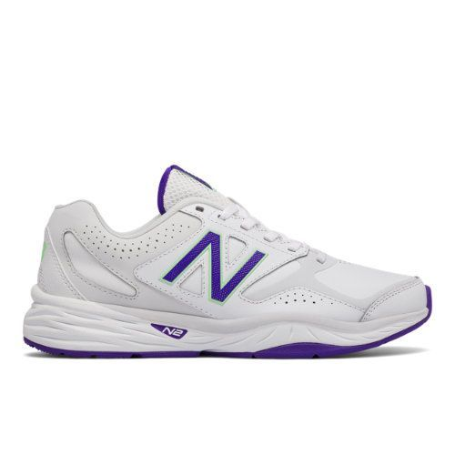 New Balance 824 Trainer Women's Everyday Trainers Shoes - White/Purple (WX824WV1)
