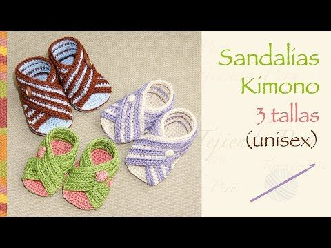 Sandalias kimono para bebés tejidas a crochet (unisex en 3 tallas!)