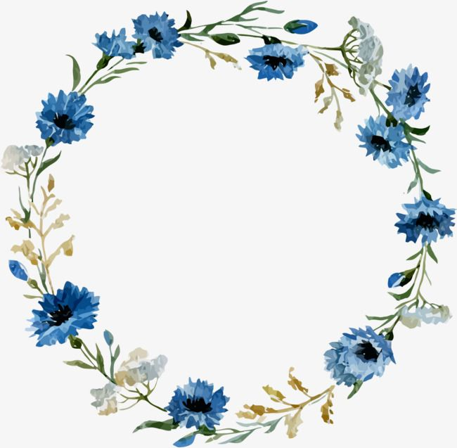 Antique Round Lace Ancient Circle Frame Retro Border Png And Vector With Transparent Background For Free Download Blue Flower Painting Blue Watercolor Floral Flower Doodles