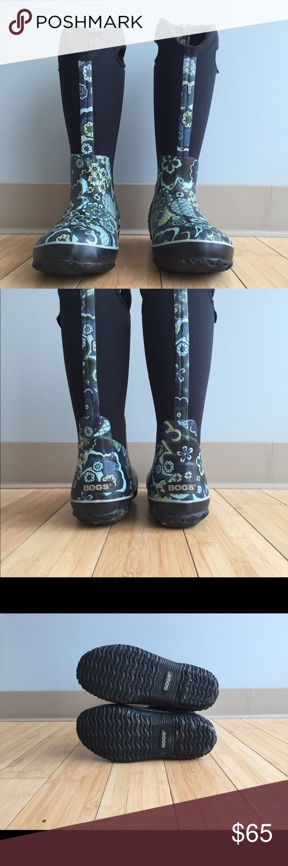 Bogs Rain Boots Floral Bogs boots. Size 7. Like new. Bogs Shoes Winter & Rain Boots
