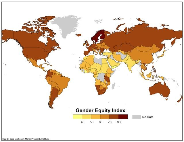 Gender Equality Indices Mapped