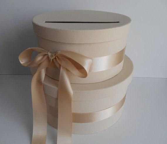 Wedding Card Box, Money Card Box, Custom Made to Order, Gift Card Box Holder, Card Holder, Wedding Money Gift Box, Champagne Card Box