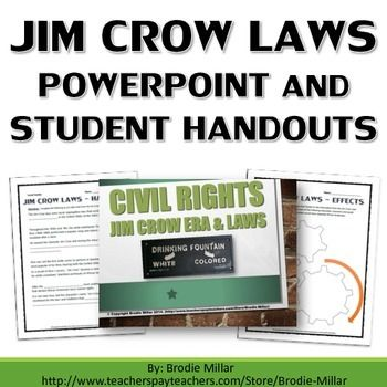 best american history jim crow laws images civil rights jim crow laws powerpoint and student handouts