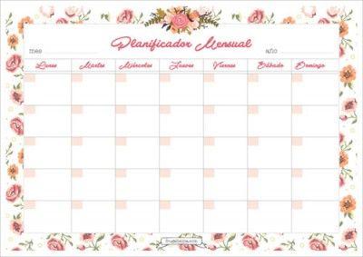 Planificador Mensual Imprimible                                                                                                                                                                                 Más