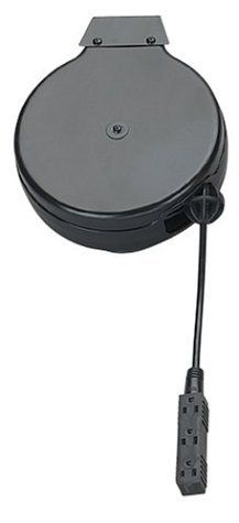 Coleman Cable 04633 30-Foot Retractable Extension Cord Reel with Triple Outlet by Coleman Cable. $63.80. From the Manufacturer The Coleman Cable 04633 Luma-Site Cord Reel with Trinector has 30-feet of black 16/3 SJT cord and a three outlet Trinector plug. The heavy-duty steel reel case mounts easily for use in the workshop, basement, or garage. The triple outlet power block provides more receptacles than standard extension cords. ...