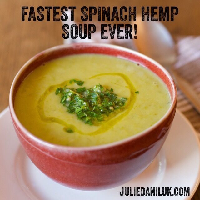 Fastest Spinach Hemp Soup Ever!