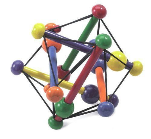 Skwish Classic Rattle Teether Grasping Activity Babies Wooden Children Kids Toys