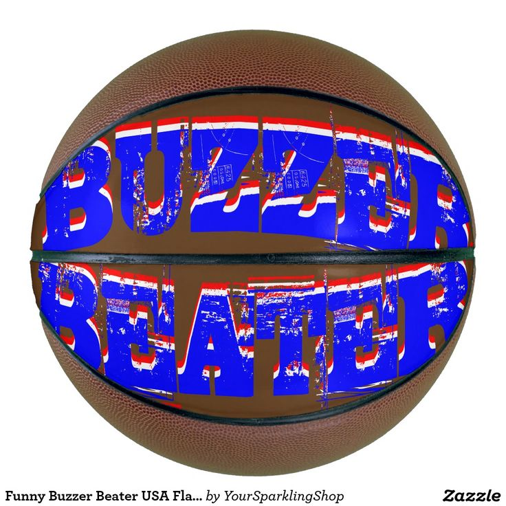 Funny Buzzer Beater USA Flag Colors Typography Basketball