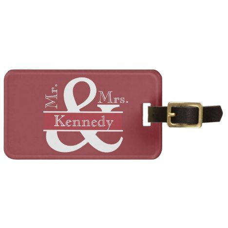 Personalized Mr and Mrs Newly Weds Monogram Luggage Tag #wedding #accessories