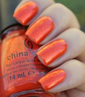 China Orange Nail Art It is almost time for football season