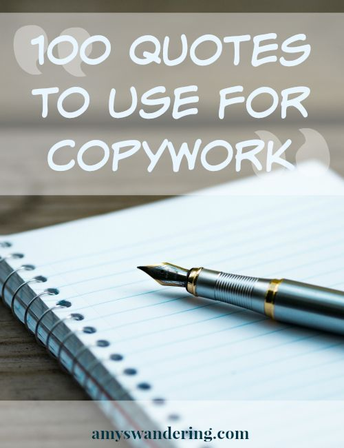 100 Quotes to Use for Copywork