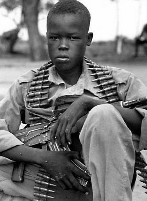 Cirspin Hughes, Child Soldier in Sudan, 1994