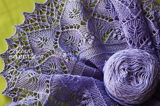 Lilac Wish Lace Shawl by Alina Appasov on Ravelry - Small Crescent shawl uses only 360-440 yrds!