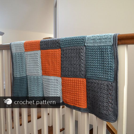 Textured Baby Toddler Blanket  Crochet Pattern PDF by acrazysheep