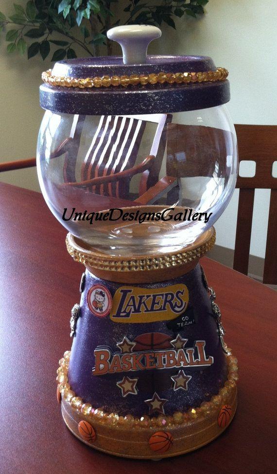 la lakers cheerleader basketball sports candy jar