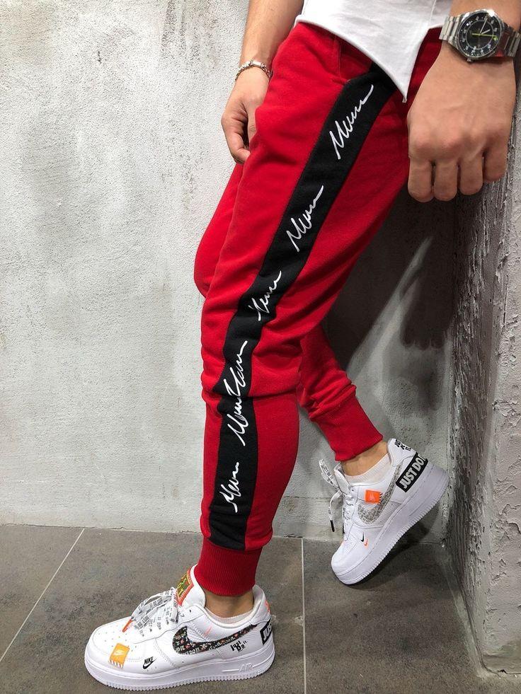 <b>Jogger</b> Sweatpants Side Stripes - Red/Black в 2019 г ...