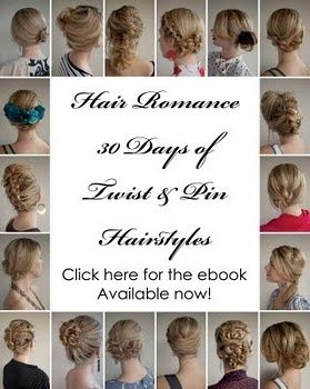 The 30 Days of Twist & Pin Hairstyles ebook includes:   Over 30 hairstyles with tutorials and full instructions   Styling tips and tricks   Advice on tools and hair products  Easy techniques for styling both short and long hair  Over 75 pages of | http://twistbraidhairstyles.blogspot.com