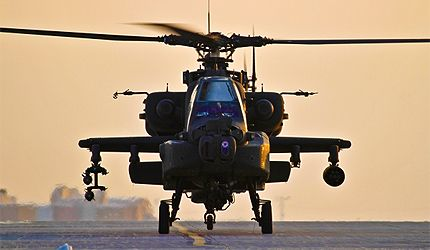 The #Apache is a twin-engined army attack helicopter developed by McDonnell Douglas (now Boeing). It entered service with the US Army in 1984 and has been exported to Egypt, Greece, Israel, the Netherlands, Japan, Saudi Arabia, United Arab Emirates (UAE) and the UK.