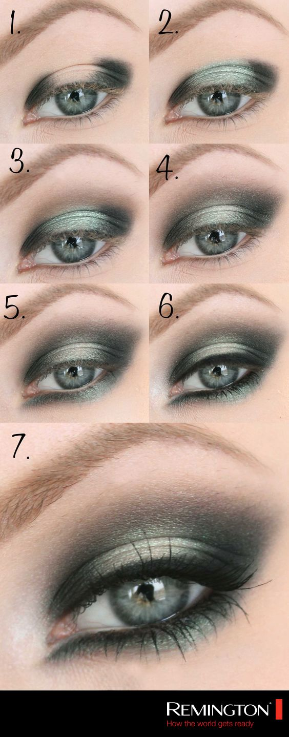 Aplica sombras en tonos metálicos para lograr un look de noche espectacular. #Eyes #makeup #DIY #style #tips #look #woman
