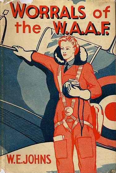 """Romance de aviação e espionagem com a heroína Joan """"Worrals"""" Worralson. Houve 11 romances Worrals, que começam em 1941 com Worrals of the WAAF  (WAAF são as iniciais de Women's Auxiliary Air Force)"""