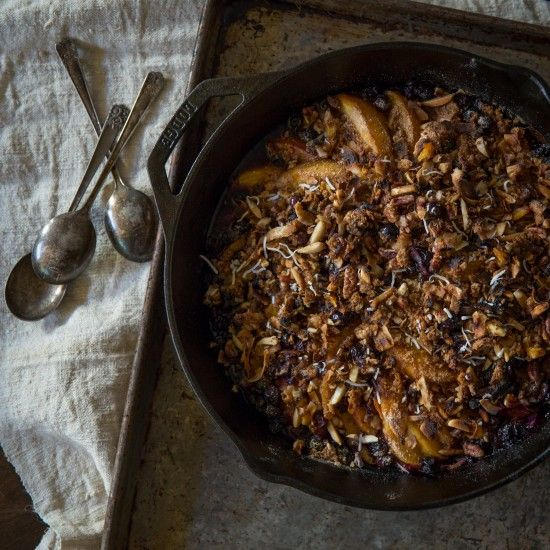 Paleo Peach Cobbler with Blueberries | Civilized Caveman Cooking Creations