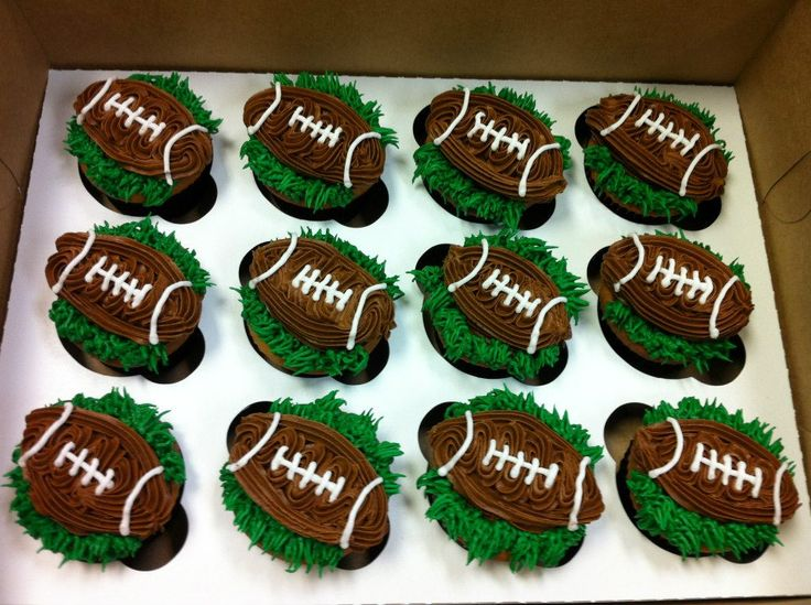 Football Cupcake Carter Man S 1st Birthday Pinterest