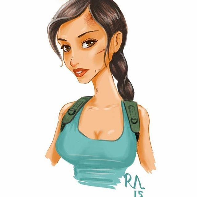 #laracroft #tombraider #gamegirl #drawing #art #sketch #illustration #samsunggalaxynote4 #sketchbookforgalaxy #instadraw #instaart #picoftheday