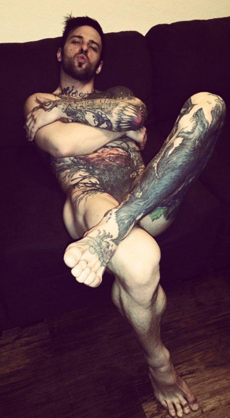 Tattooed guys softcore clip