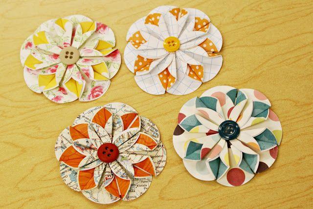 Whimsical World of Laura Bird: Paper Flower Tutorial