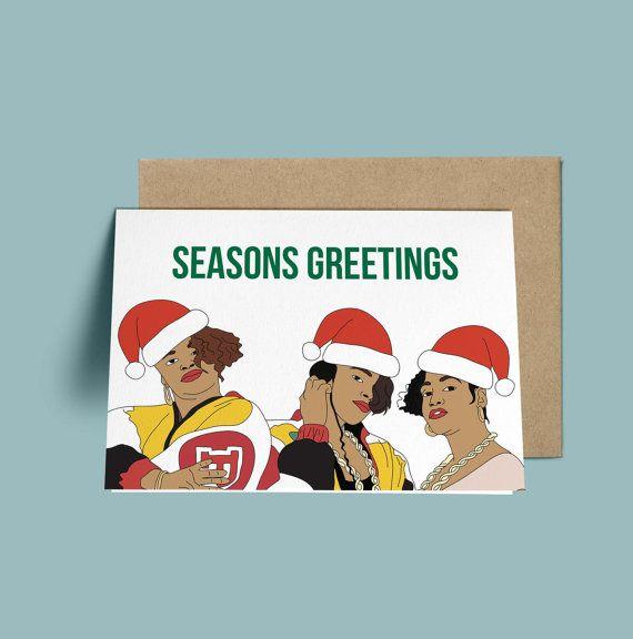 Salt N Pepa Season's Greeting Funny Christmas Card by GREETYOSELF