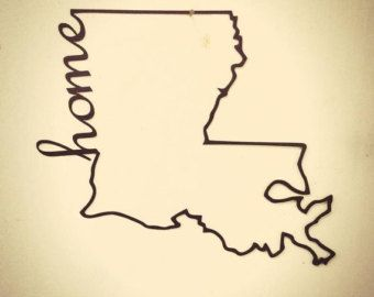 "24"" Louisiana Home metal sign"