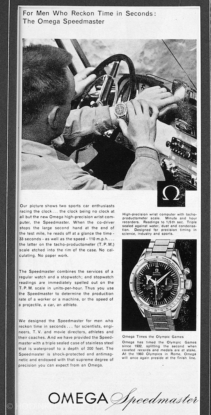 Original 1957 Omega Speedmaster advertisement.