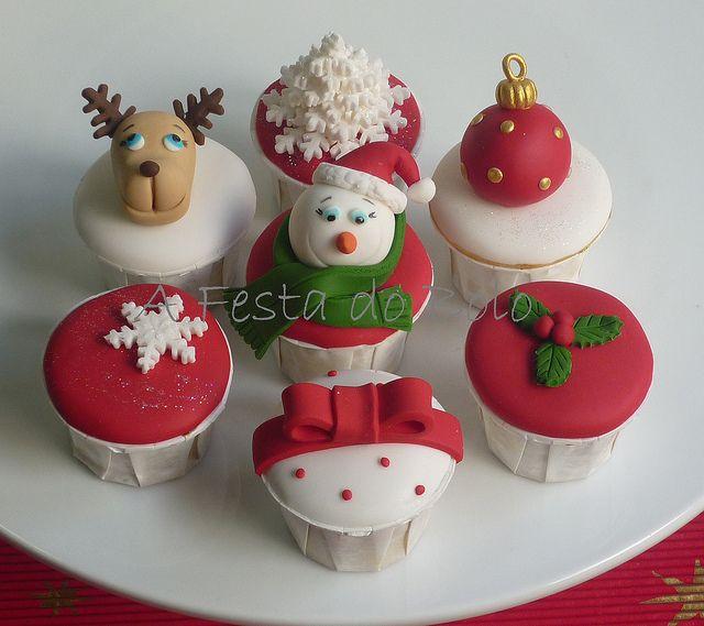 O Natal está a chegar! Decore a sua mesa de forma original... (Boneco de neve e rena inspirados nuns originais de Tal Tsafrir) by Festa do Bolo, via Flickr
