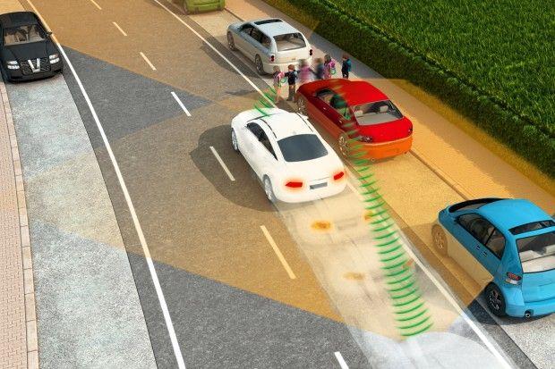 Autos orten Fußgänger - Handy als Schutzschild