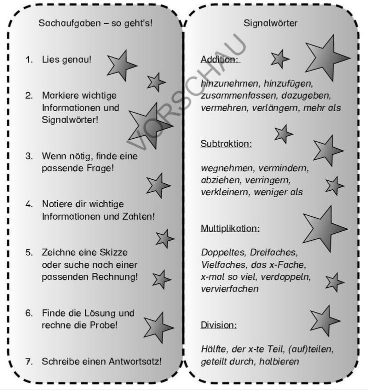 http://www.edidact.de/contentBase/edidact/vorschau/2-20-05-04-34.2.pdf: Textaufgaben, Sachaufgaben, Mathe, alle Klassenstufen, Hilfe, Schritte, Bearbeitung, Lesezeichen, Merkhilfe, merken, wie bearbeite ich eine Textaufgabe, Sachaufgabe, Signalwörter für Minus, Plus, Mal, Geteilt