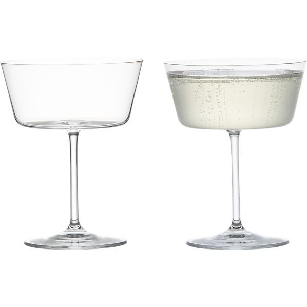 Cora Sparkling Wine Glass in Sale Dining & Entertaining | Crate and Barrel