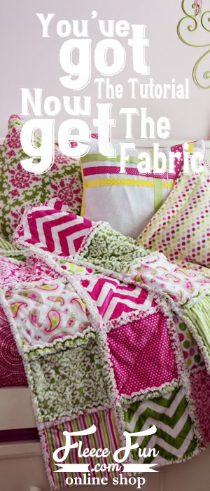 How to Make a Rag Quilt - This tutorial has several videos to walk you through the process! Great for beginners!