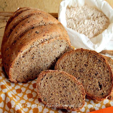 Pane cereali fatto in casa ricetta pane nero facile.Il mix di cereali dona al pane un sapore insolito, un grande valore nutritivo,nonostante sia ipocalorico