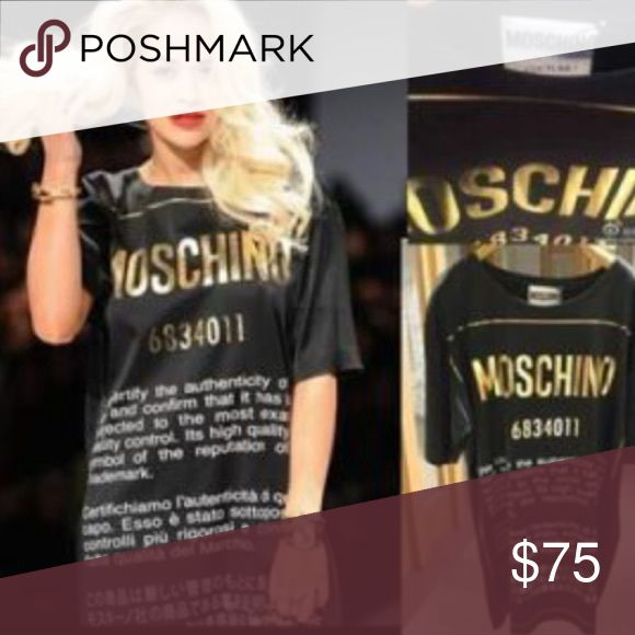 Moachino shirt Black and gold Moschino shirt Dresses