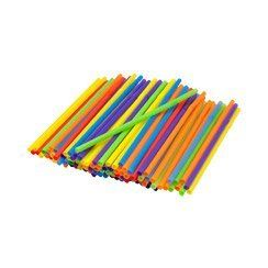 """Kizmos Assorted Jumbo Bendy Flexible Straws, 125 Count by Kizmos. $4.99. Add the finishing touches to your bar area with this set of Kizmo's Jumbo Flex Straws. The flexible """"top"""" makes getting drinks much easier. Set contains 125 assorted colored straws. Straws measure 8-1/4 inch long, and flexed measure 8-1/2 inch long."""
