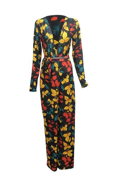 d2ee3ce4b7ed Roaso Stylish Deep V Neck Floral Printed Qmilch One-piece Jumpsuits – ROASO