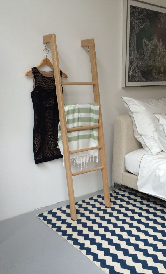 SUMMER SALE until August 31st. Normal Price €229 - Now €199   Sometimes the most simple designs are the most beautiful. TB.3 looks great in any room! The Clothes Ladder can hold a vast amount of clothes! It is wider than a normal ladder, strong in stature but minimal in design. Suits both bedrooms or the bathrooms.  This piece is produced in European Oak with 2 possible finishes: Golden Oil (Pictures 3-5) or Transparent Wax (which gives the Oak a lighter look - Pictures 1-2)  The Pieces are…