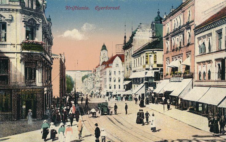 Kristiania - Egertorvet  #history #svenkvia #norge #norway #car #kristiansand