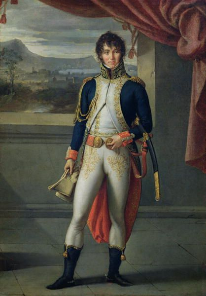 Napoleonic Marshal and Admiral Joachim Murat (1767-1815) in French uniform by Jean-Baptiste Wicar,19th c.