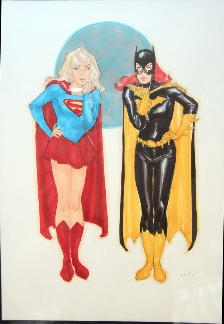 Batgirl and Supergirl by Phil Noto