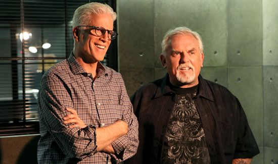 """""""I had to bite my tongue, because I really wanted to make a joke and go into Cliff,"""" guest star John Ratzenberger says about reuniting with former """"Cheers"""" co-star Ted Danson on CBS' """"CSI: Crime Scene Investigation"""" Wednesday (Oct. 9)."""